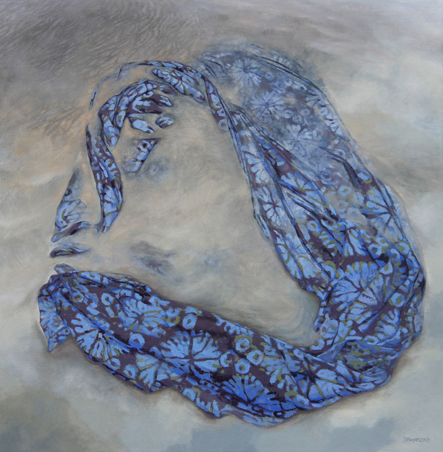 Karin Daymond, Covered, oil on canvas, 90 x 90cm