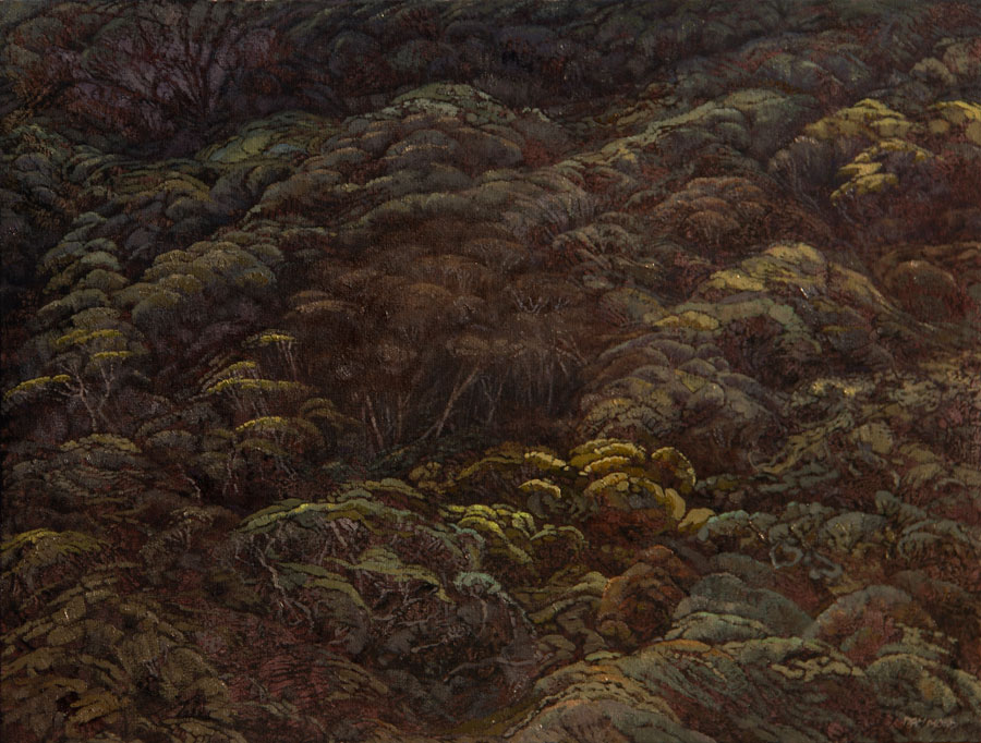 Karin Daymond, Forested Dune I, oil on canvas, 60 x 80cm (2)